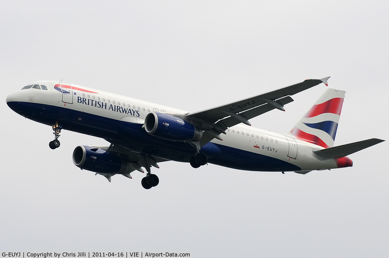G-EUYJ, 2010 Airbus A320-232 C/N 4464, British Airways