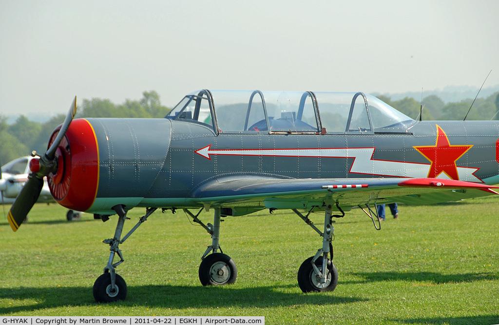G-HYAK, 1990 Bacau Yak-52 C/N 9011107, CLOSE UP