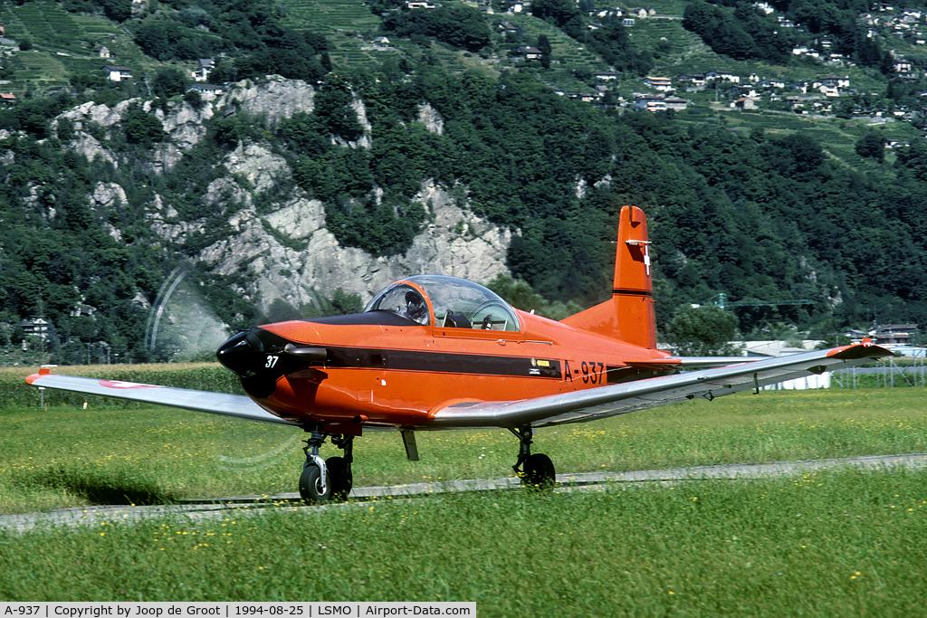 A-937, 1983 Pilatus PC-7 Turbo Trainer C/N 345, training aircraft at Magadino