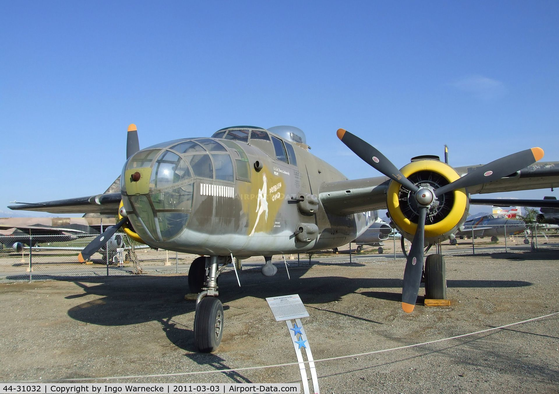 44-31032, 1944 North American B-25J Mitchell C/N 108-35357, North American B-25J Mitchell at the March Field Air Museum, Riverside CA