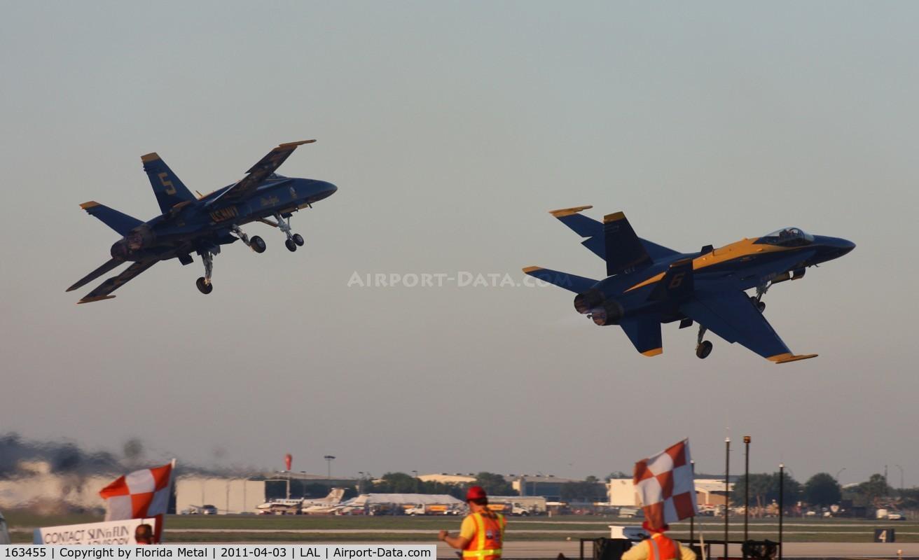 163455, 1988 McDonnell Douglas F/A-18C Hornet C/N 0669/C022, Blue Angel 6