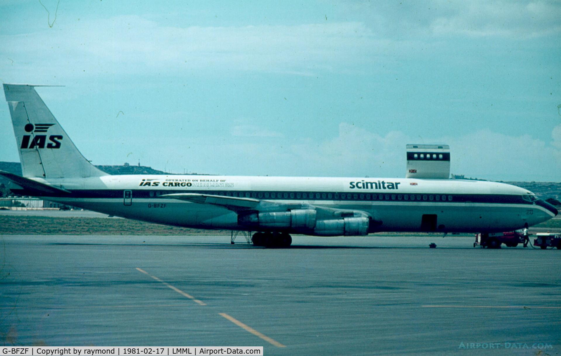 G-BFZF, 1964 Boeing 707-321C C/N 18718, B707 G-BFZF Scimitar Cargo