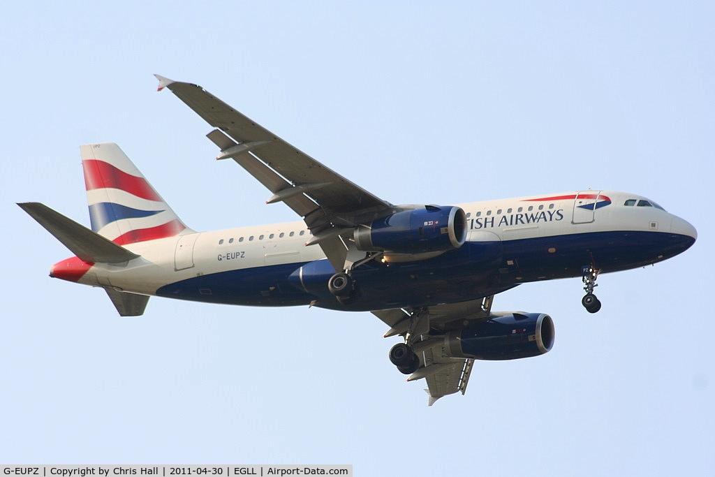 G-EUPZ, 2001 Airbus A319-131 C/N 1510, British Airways