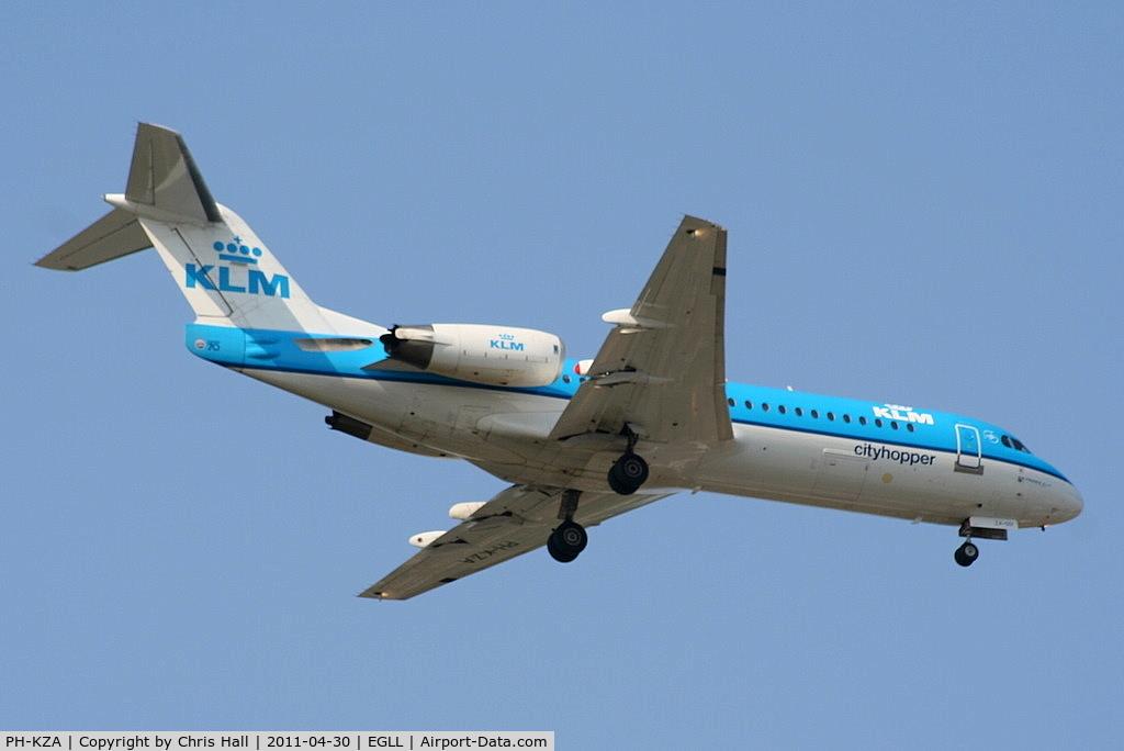 PH-KZA, 1996 Fokker 70 (F-28-070) C/N 11567, KLM CityHopper