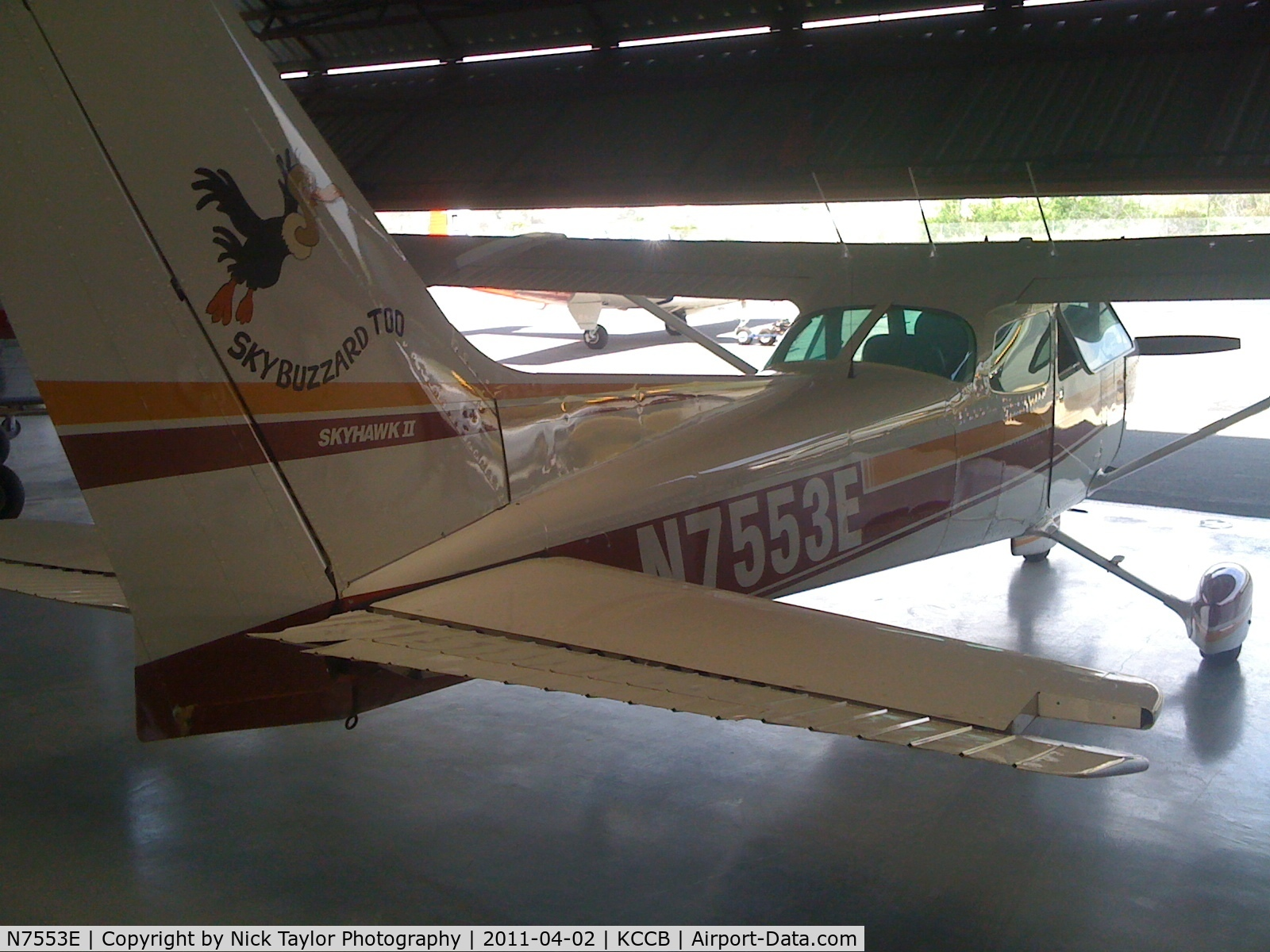 N7553E, 1978 Cessna 172N Skyhawk C/N 17272106, Sitting in the CAF hangar at Cable