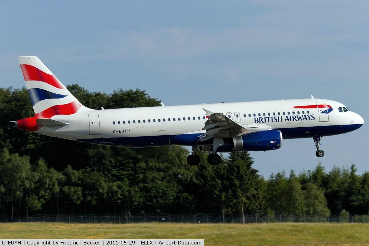 G-EUYH, 2010 Airbus A320-232 C/N 4265, on final RW24