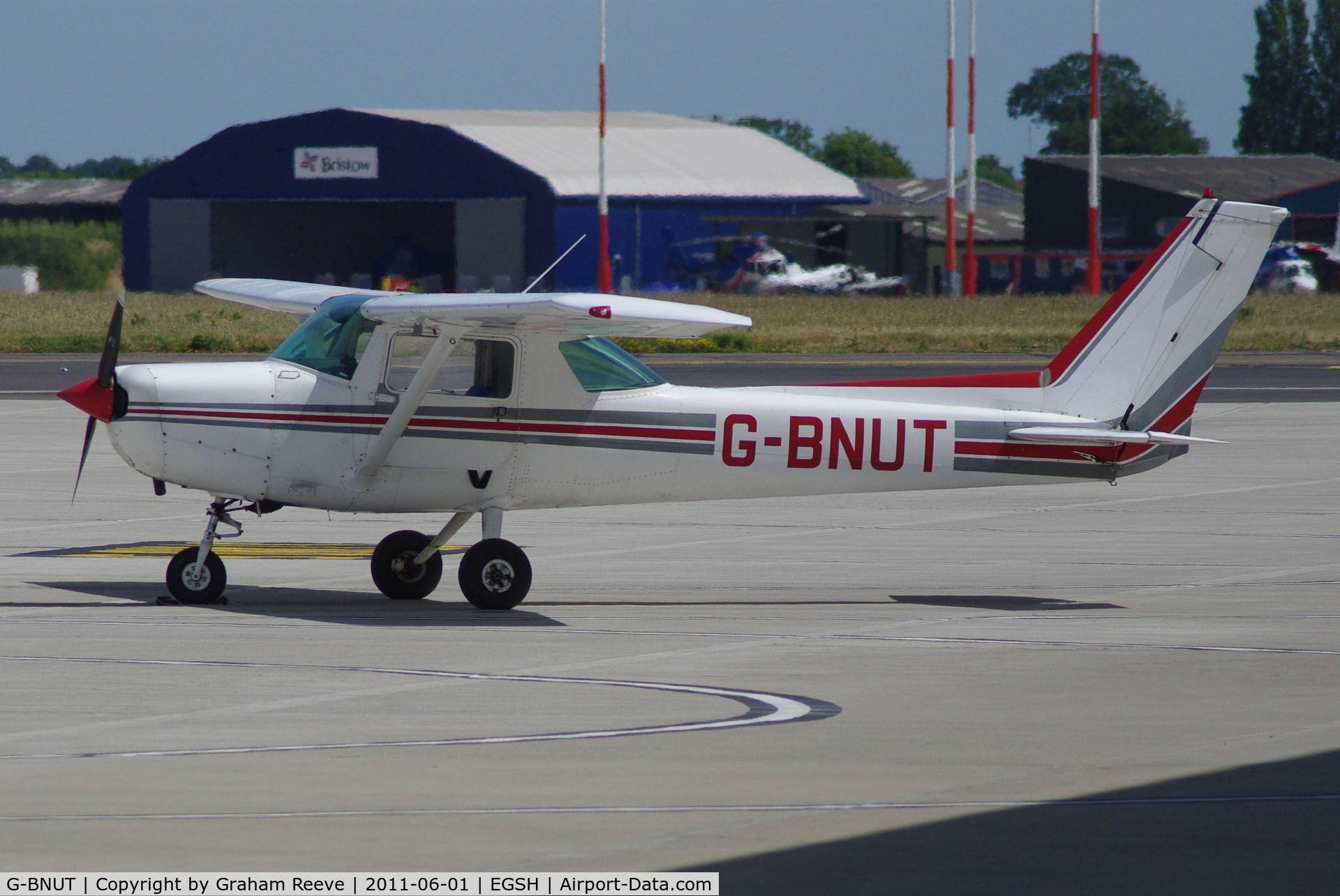 G-BNUT, 1978 Cessna 152 C/N 152-79458, Parked at Norwich.