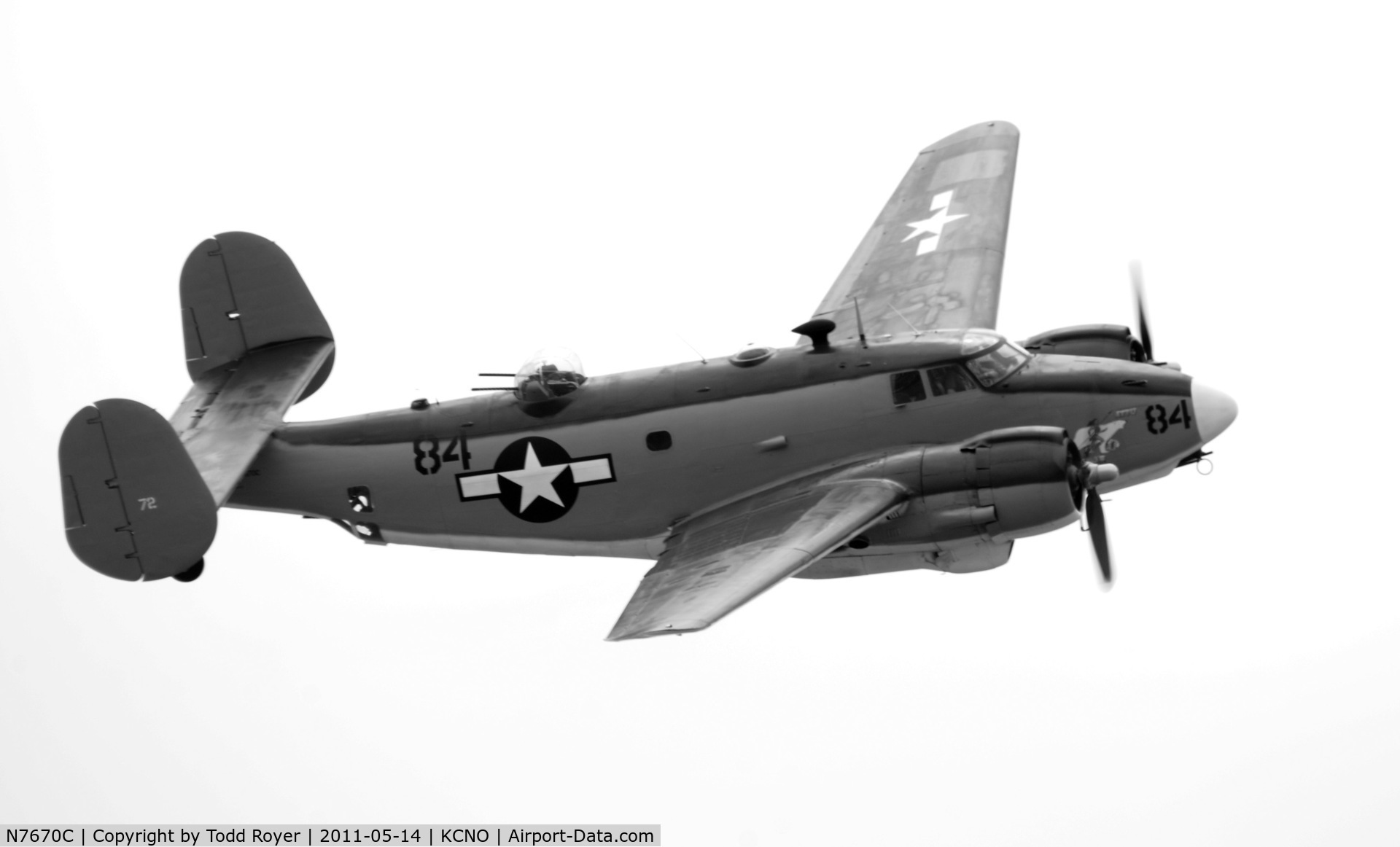 N7670C, 1957 Lockheed PV-2 Harpoon C/N 15-1438 (Bu37472), Chino Airshow 2011