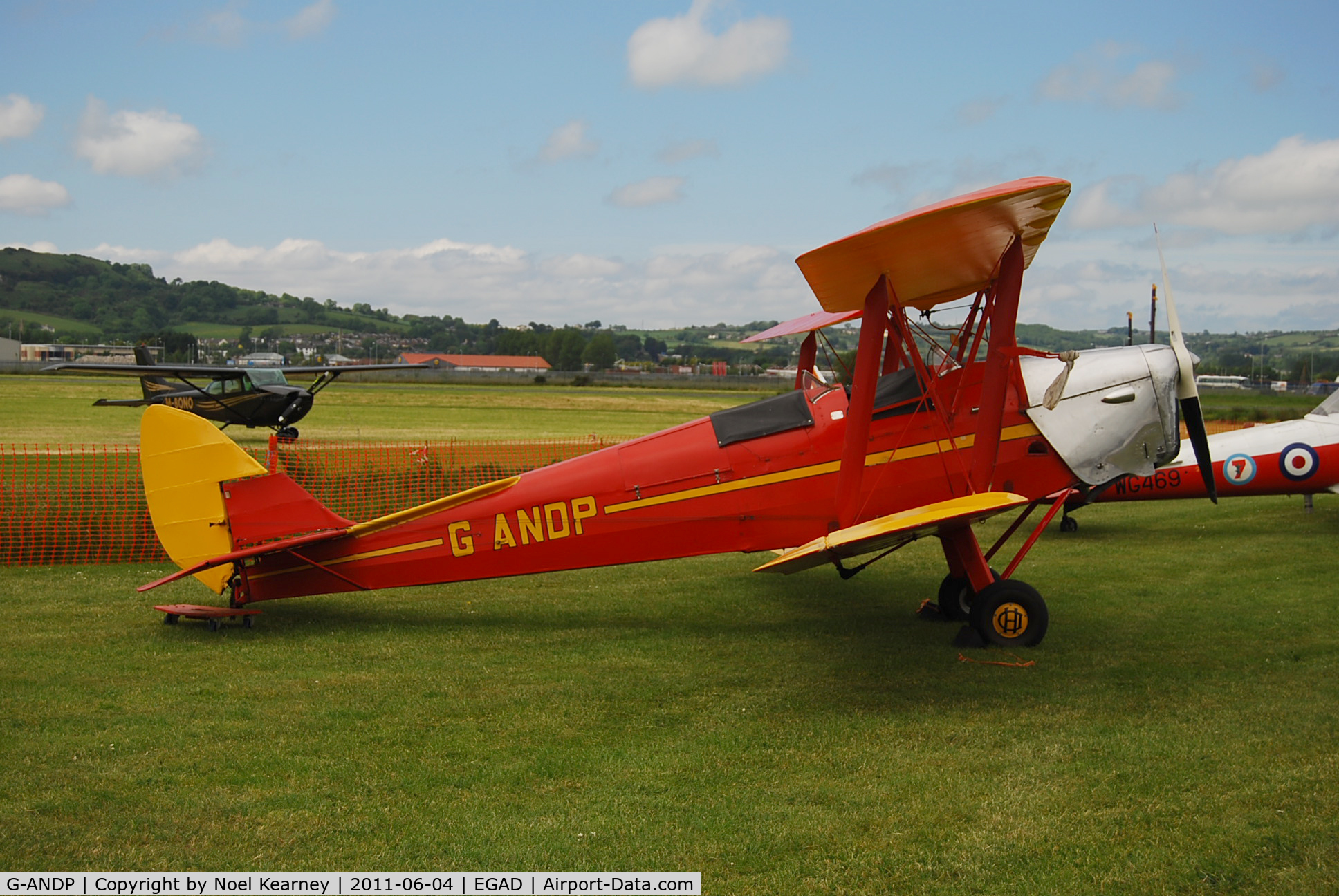 G-ANDP, 1940 De Havilland DH-82A Tiger Moth II C/N 82868, On the display line - EGAD Fly-in 2011
