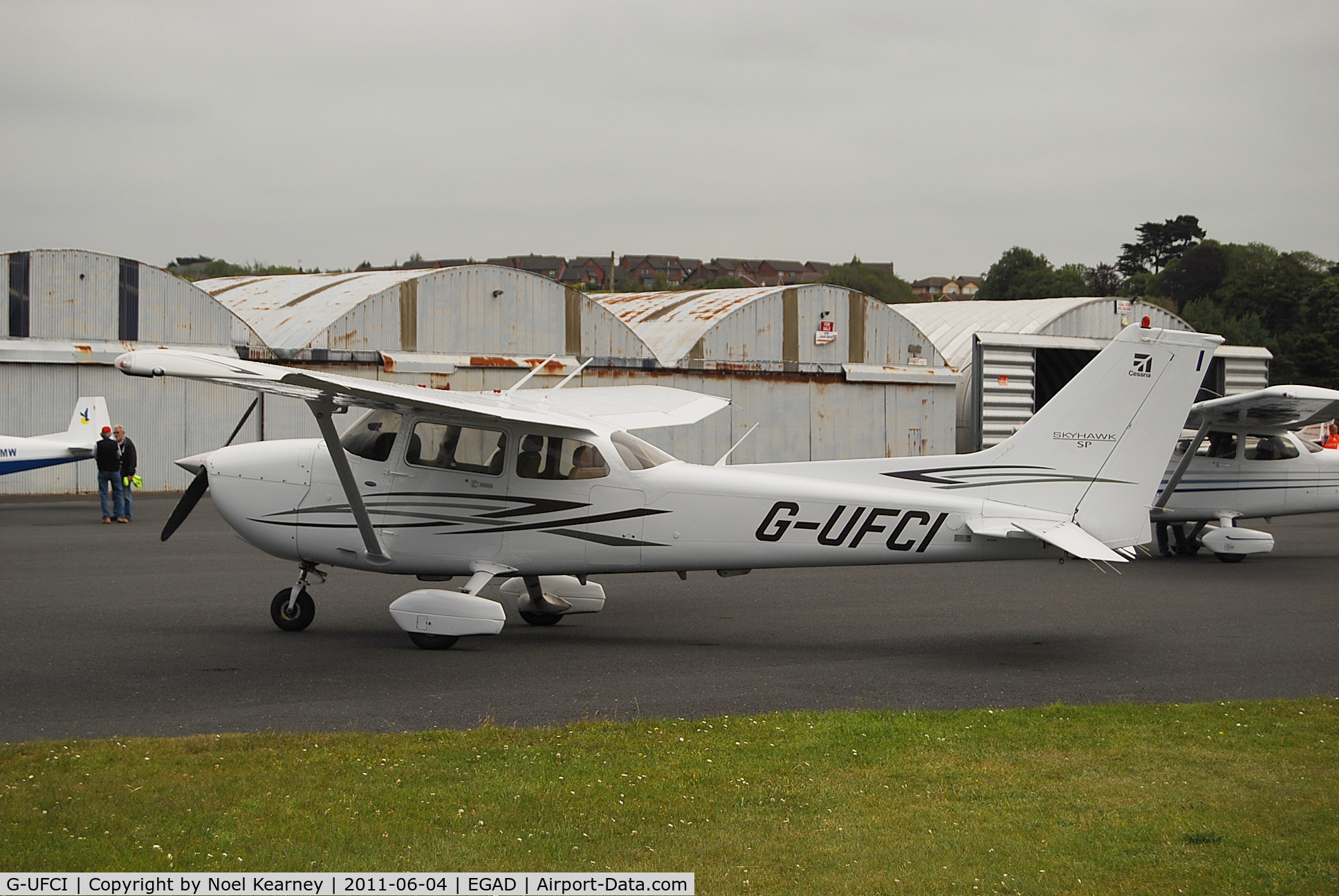 G-UFCI, 2007 Cessna 172S Skyhawk C/N 172S-10508, Parked on the apron at Newtownards Airfield.