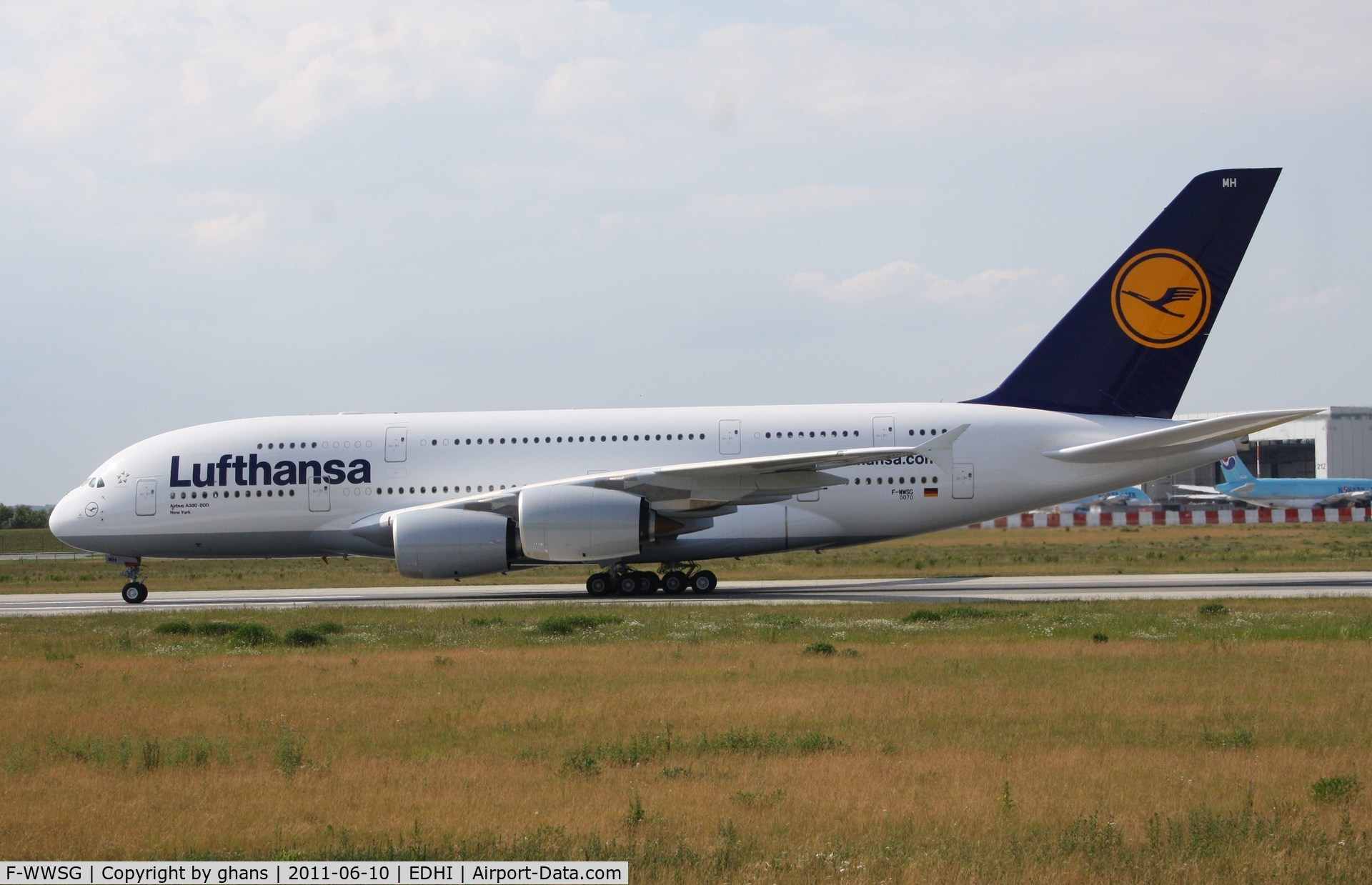 F-WWSG, 2010 Airbus A380-841 C/N 070, to become D-AIMH
