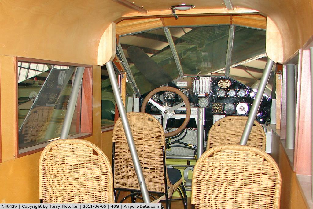 N4942V, 1954 Curtiss Wright TRAVEL AIR A-6000-A C/N 1040, Interior of 1954 Curtiss Wright TRAVEL AIR A-6000-A, c/n: 1040 at Valle , AZ