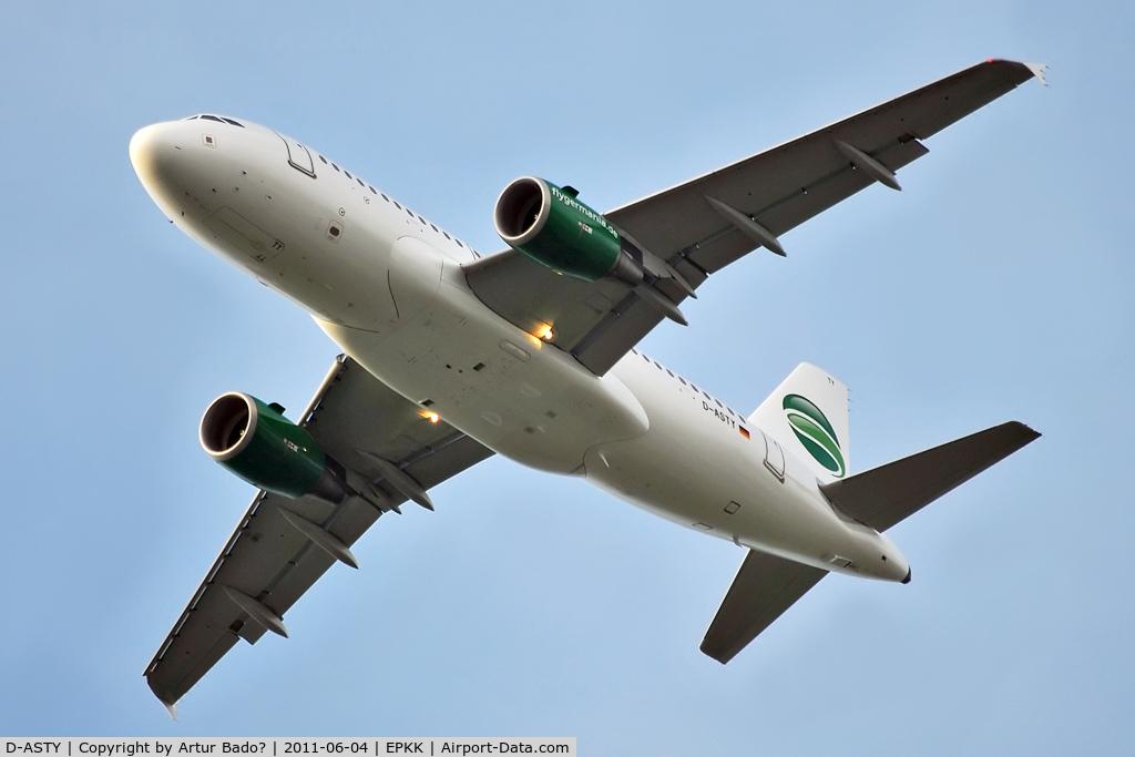 D-ASTY, 2008 Airbus A319-112 C/N 3407, Germania