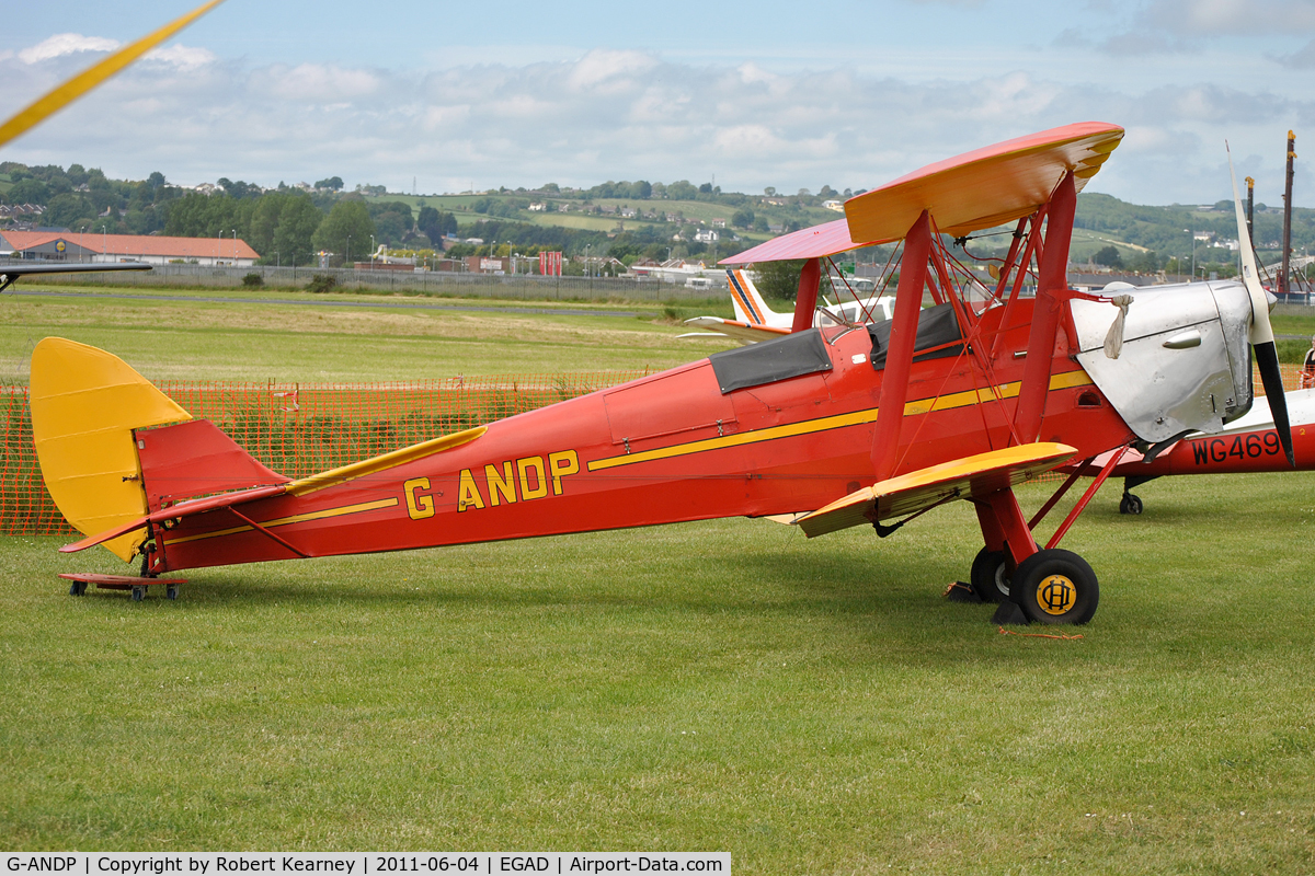 G-ANDP, 1940 De Havilland DH-82A Tiger Moth II C/N 82868, Parked for the fly-in