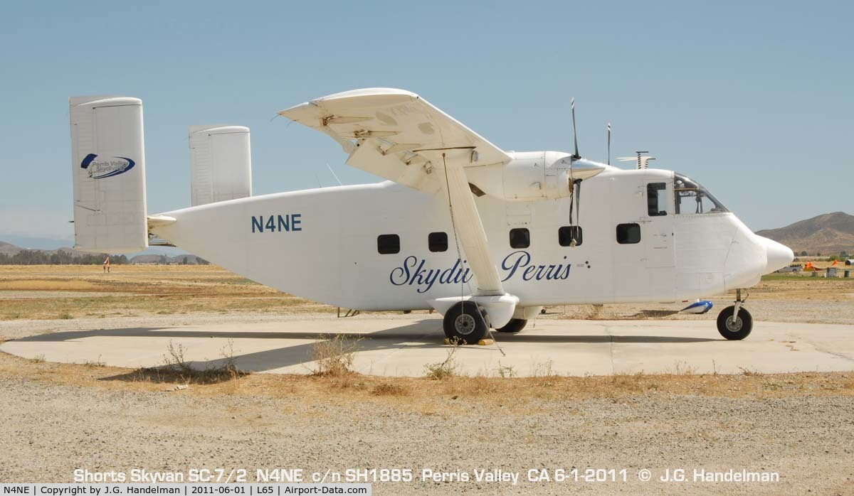N4NE, 1970 Short SC7 Series 2 C/N SH1885, at Perris Valley CA
