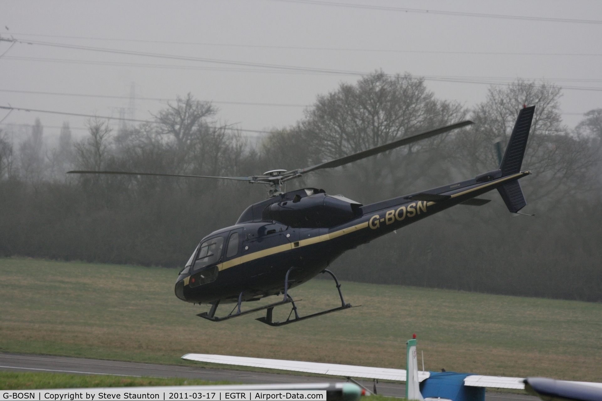 G-BOSN, 1982 Aerospatiale AS-355F-1 Ecureuil 2 C/N 5266, Taken at Elstree Airfield March 2011