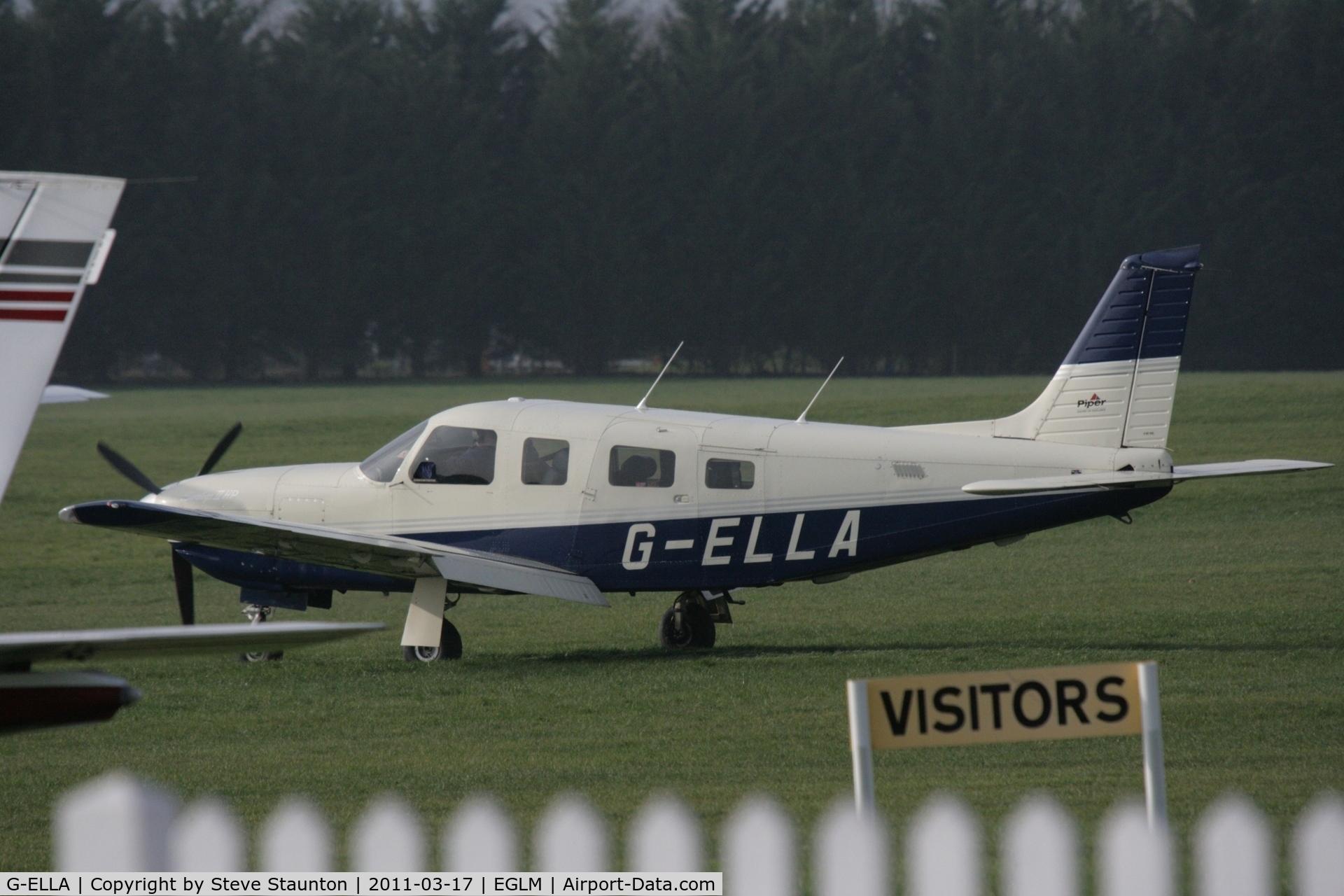 G-ELLA, 1996 Piper PA-32R-301 Saratoga SP C/N 3246050, Taken at White Waltham Airfield March 2011