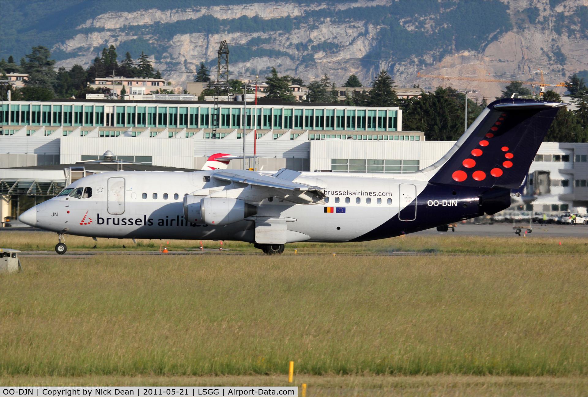 OO-DJN, 1995 British Aerospace Avro 146-RJ85 C/N E.2275, LSGG/GVA