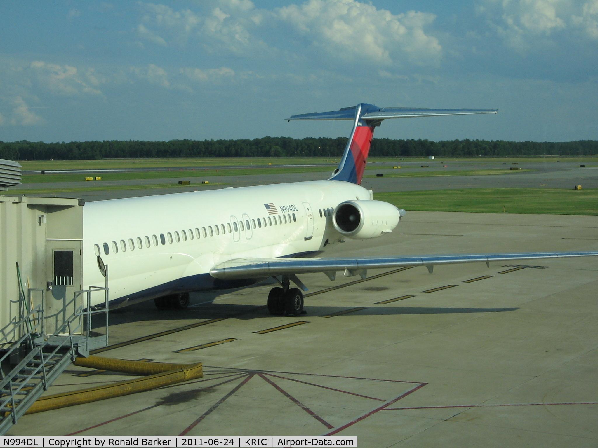 N994DL, 1991 McDonnell Douglas MD-88 C/N 53346, Richmond