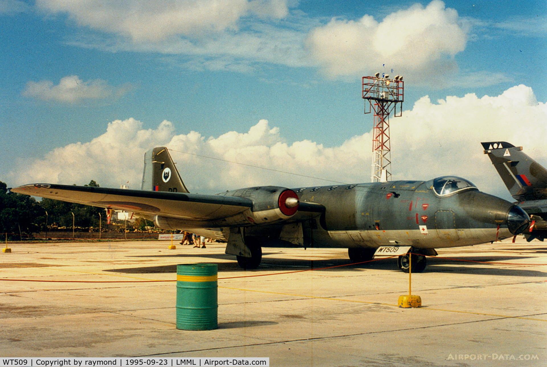 WT509, 1955 English Electric Canberra PR.7 C/N EEP71369, Canberra WT509/BR 39Sqd RAF