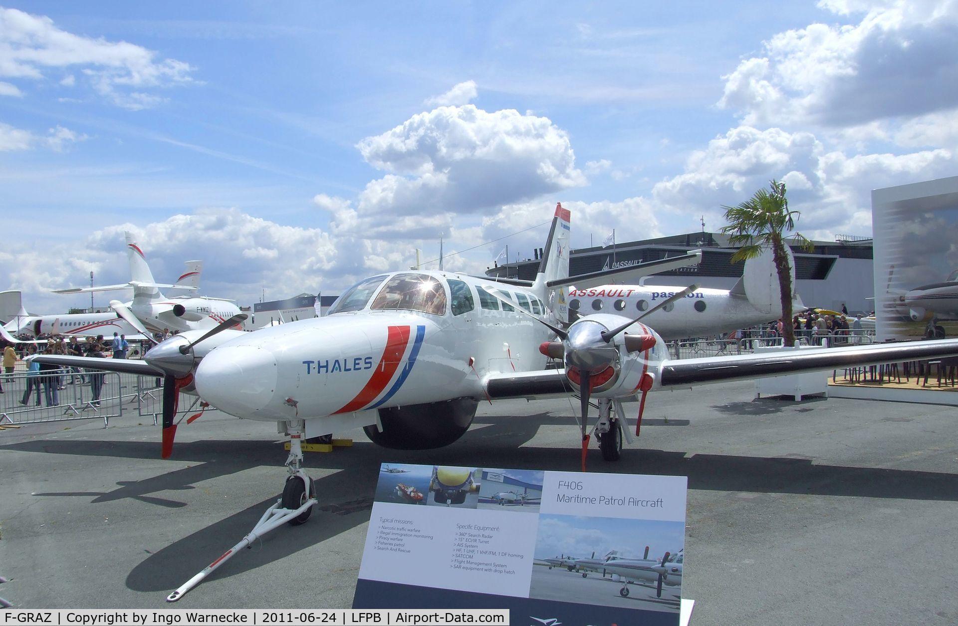 Aircraft F-GRAZ (1986 Reims F406 Vigilant C/N F406-0013) Photo by Ingo  Warnecke (Photo ID: AC631816)