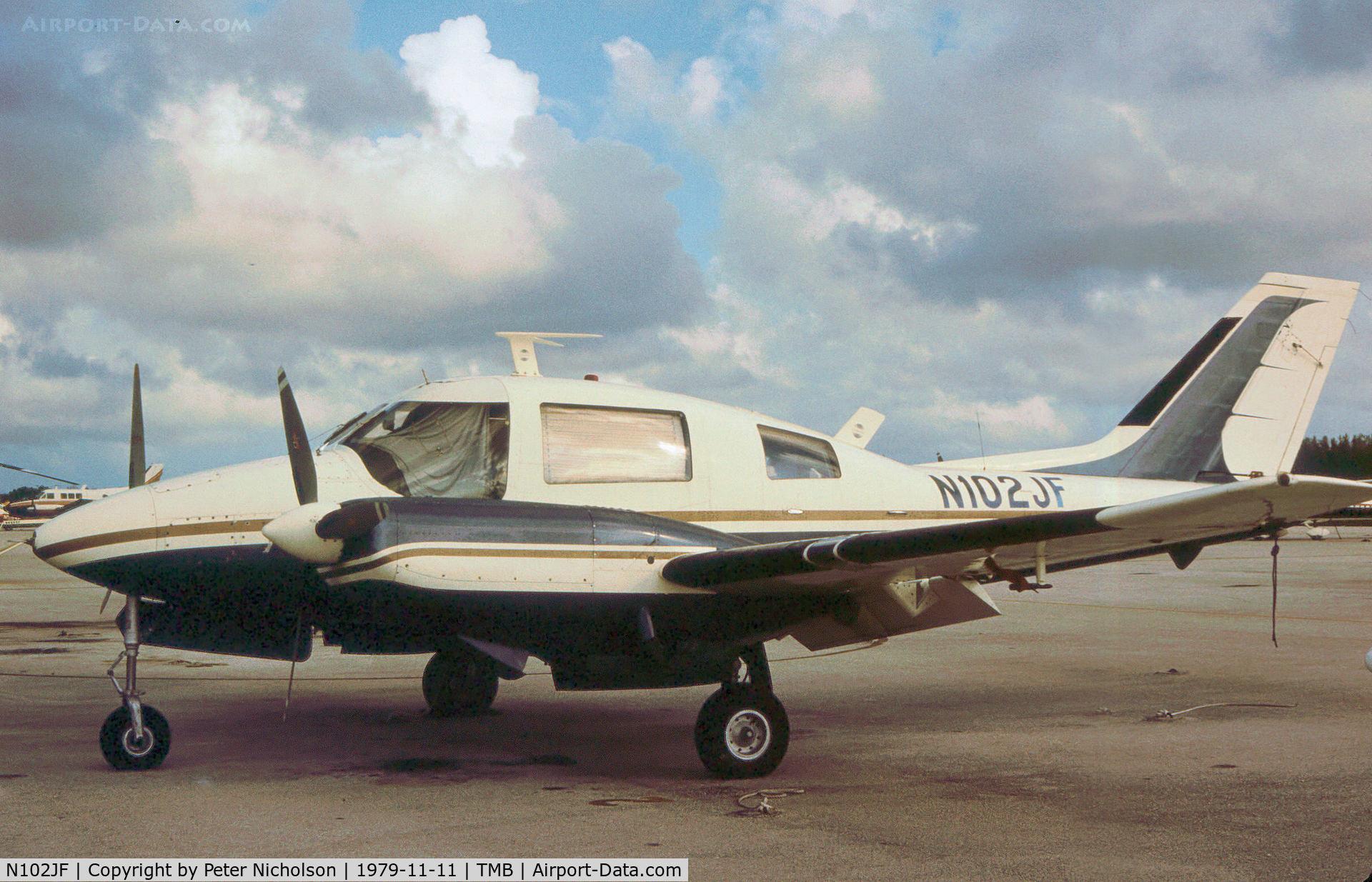 N102JF, Beagle B-206 Series 2 C/N B054, Beagle 206 as seen at New Tamiami in November 1979.