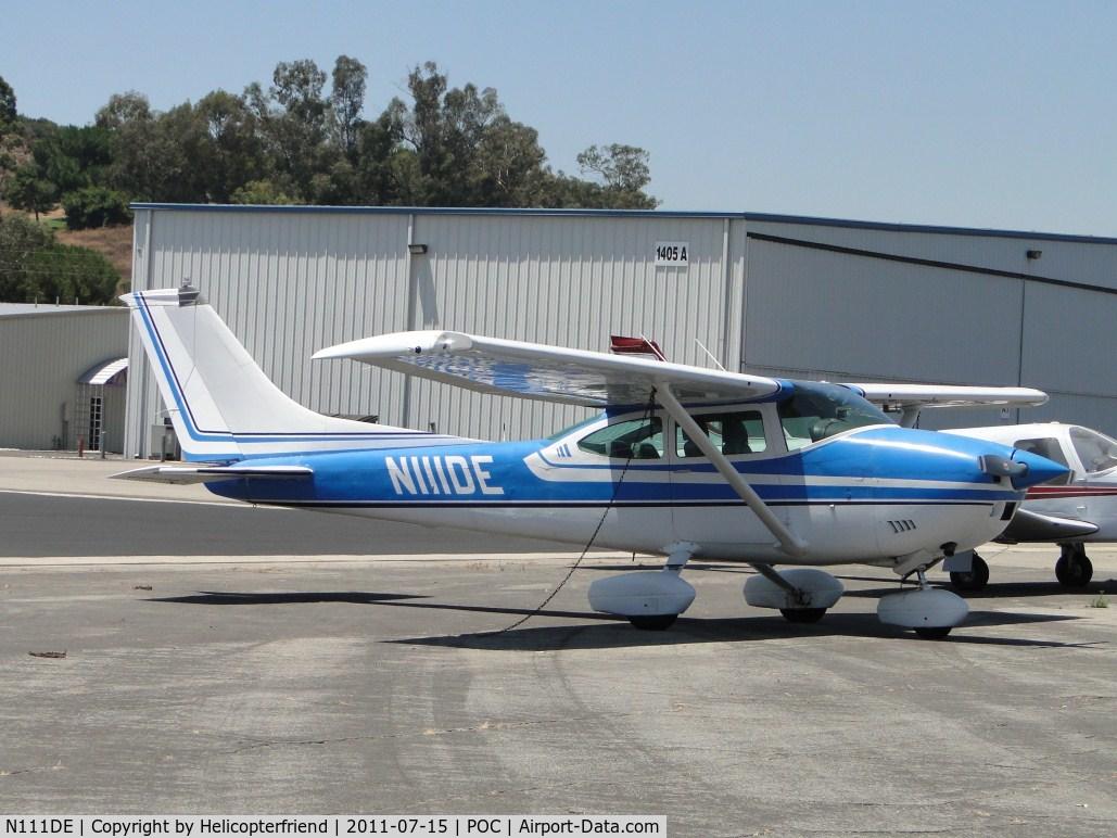 N111DE, 1973 Cessna 182P Skylane C/N 18262712, Parked and tied down by Howard Aviation