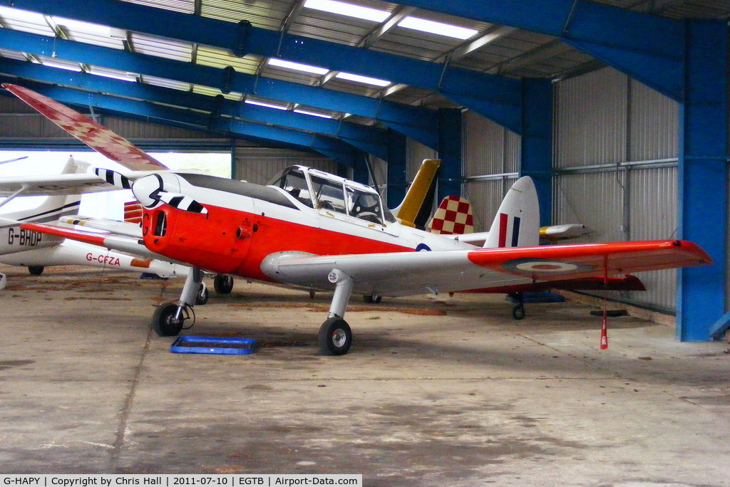 G-HAPY, 1952 De Havilland DHC-1 Chipmunk T.10 C/N C1/0697, in its former RAF guise and wearing serial WP803