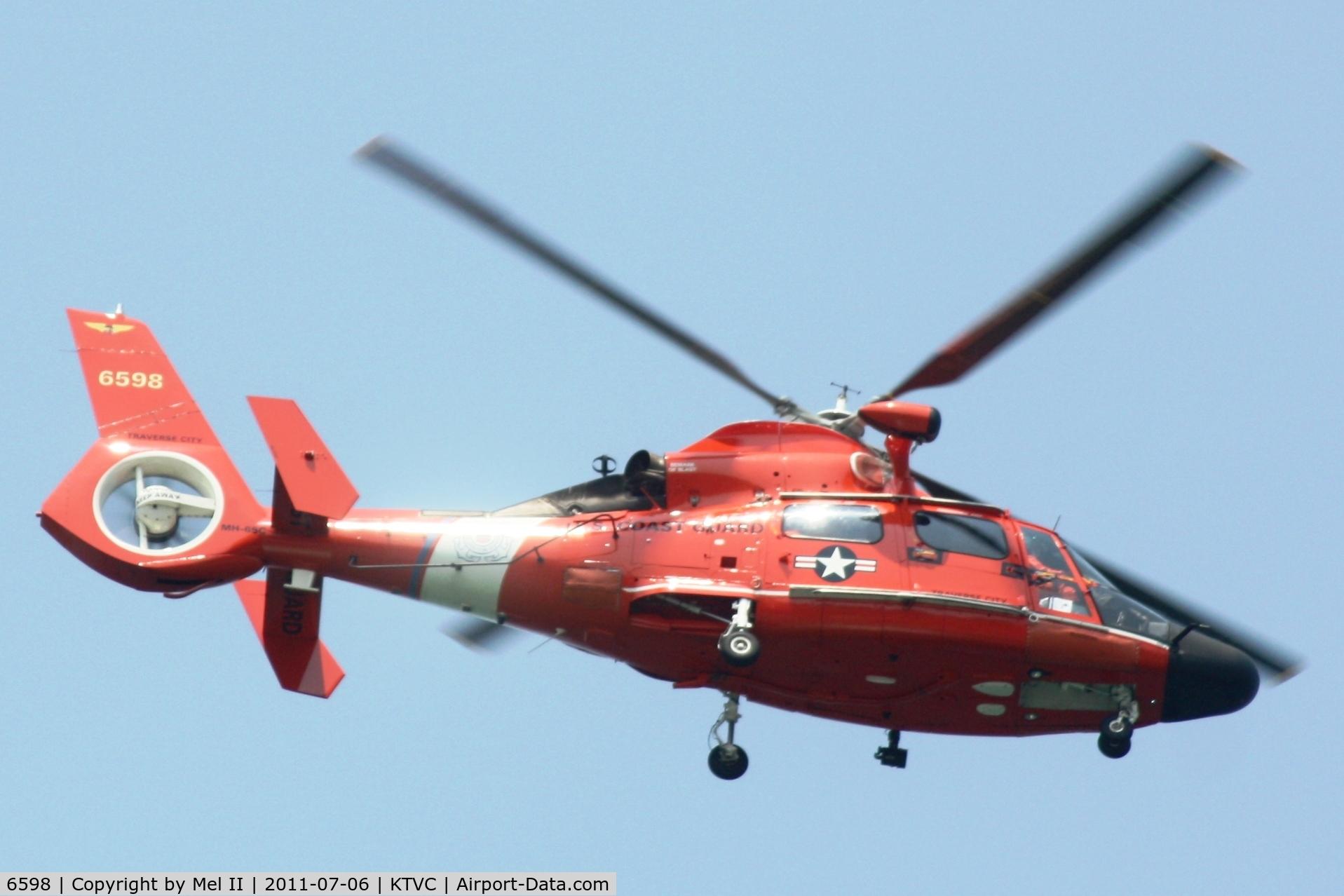 6598, 1980 Aérospatiale HH-65A Dolphin C/N 6002, On Patrol Over West Grand Traverse Bay Traverse City, MI