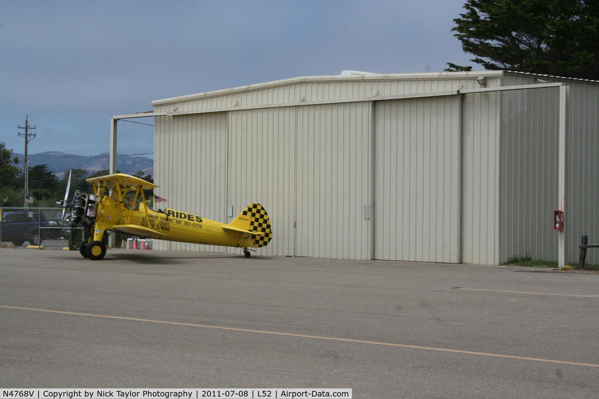 N4768V, Boeing E75 C/N 75-5737, Oceano biplane rides