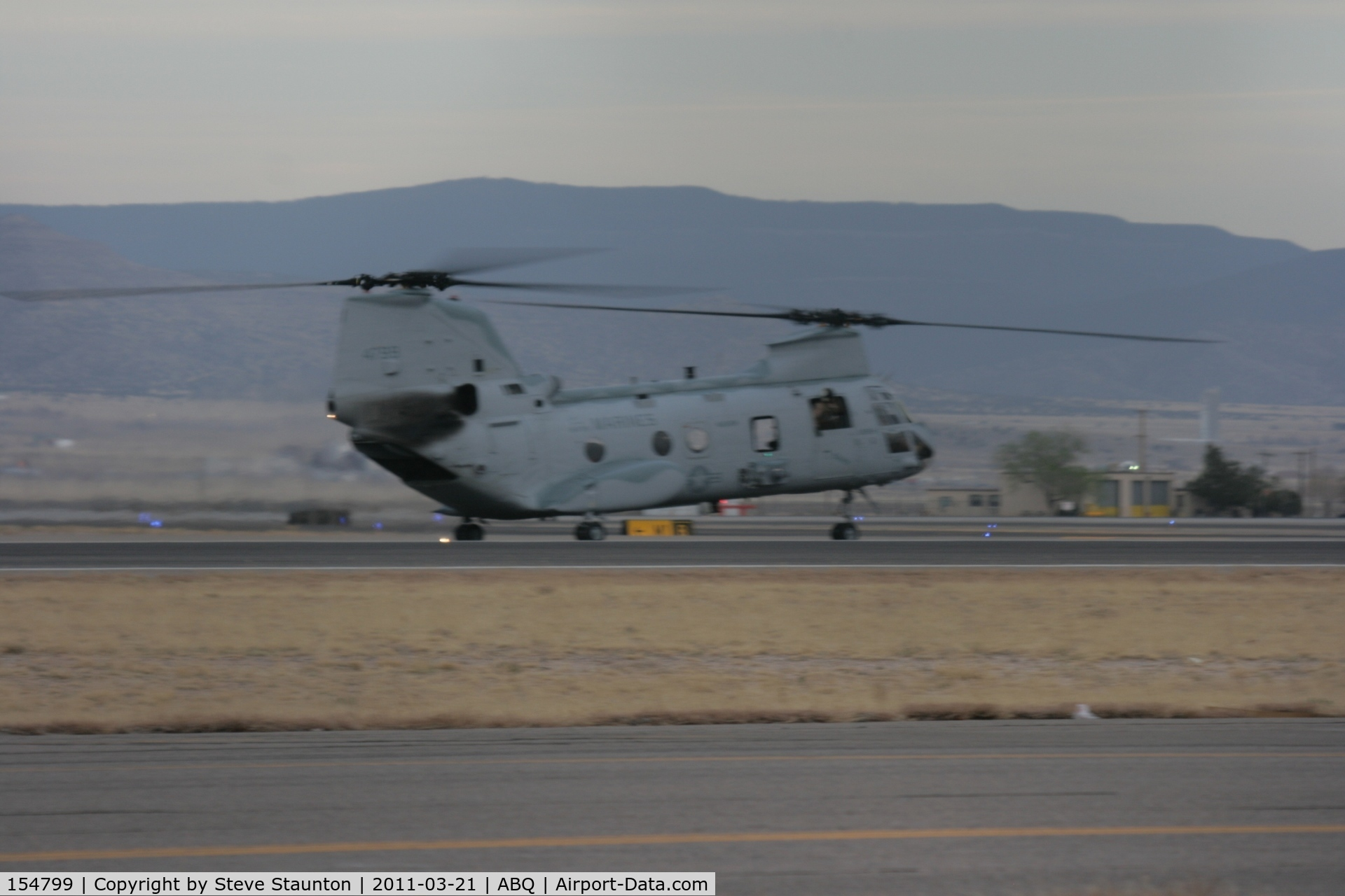 154799, Boeing Vertol CH-46F Sea Knight C/N 2412, Taken at Alburquerque International Sunport Airport, New Mexico in March 2011 whilst on an Aeroprint Aviation tour