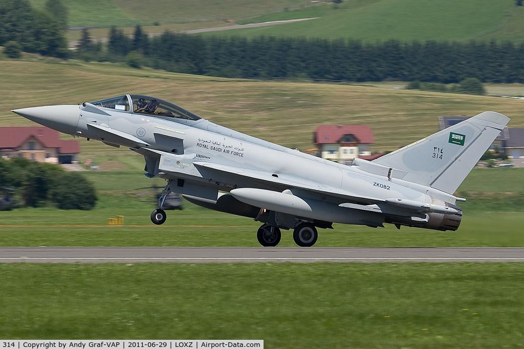 314, 2011 Eurofighter EF-2000 Typhoon F2 C/N CS016, Saudi Arabia Air Force EF2000