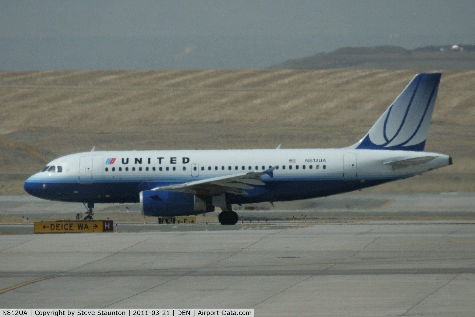 N812UA, 1998 Airbus A319-131 C/N 850, Taken at Denver International Airport, in March 2011 whilst on an Aeroprint Aviation tour