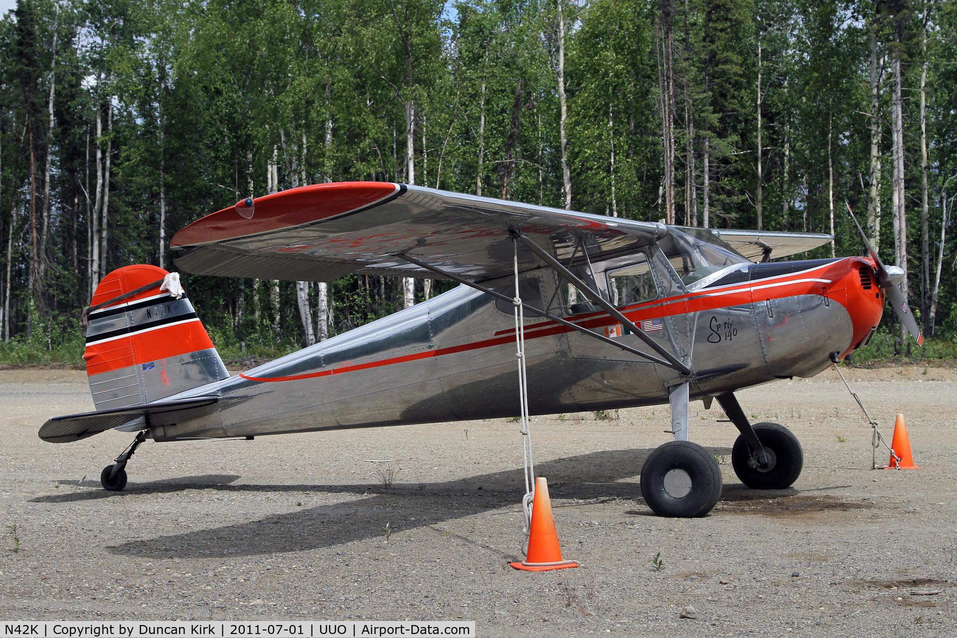 N42K, 1947 Cessna 140 C/N 12223, Polished Cessna 140