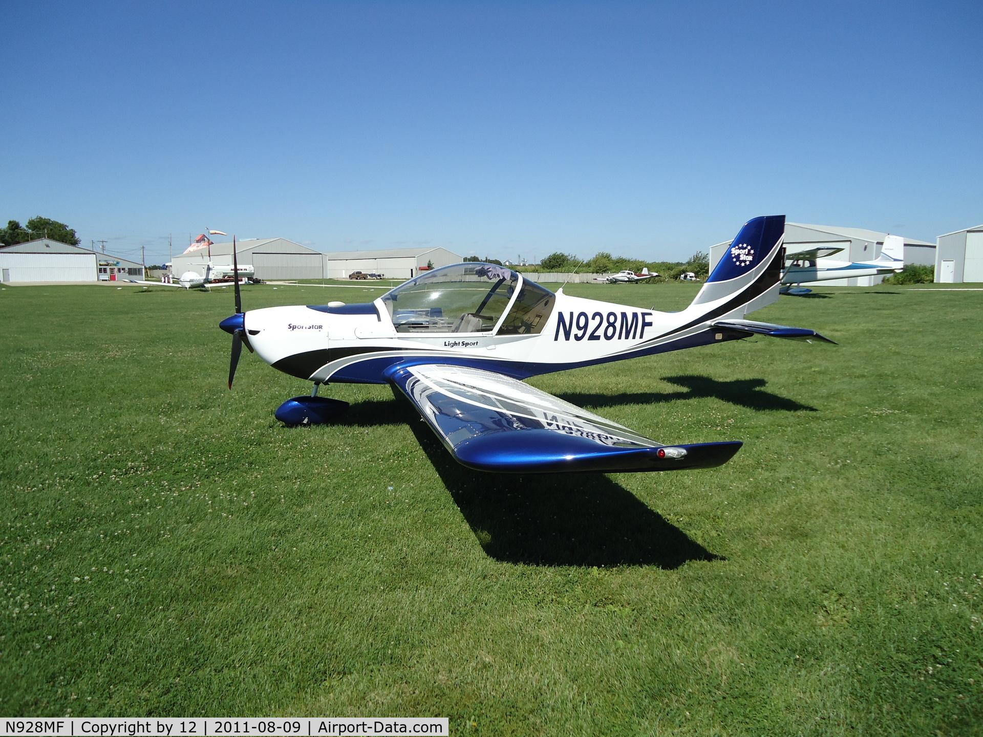 N928MF, 2007 Evektor-Aerotechnik SPORTSTAR PLUS C/N 20070928, at cushing field, Newark, IL