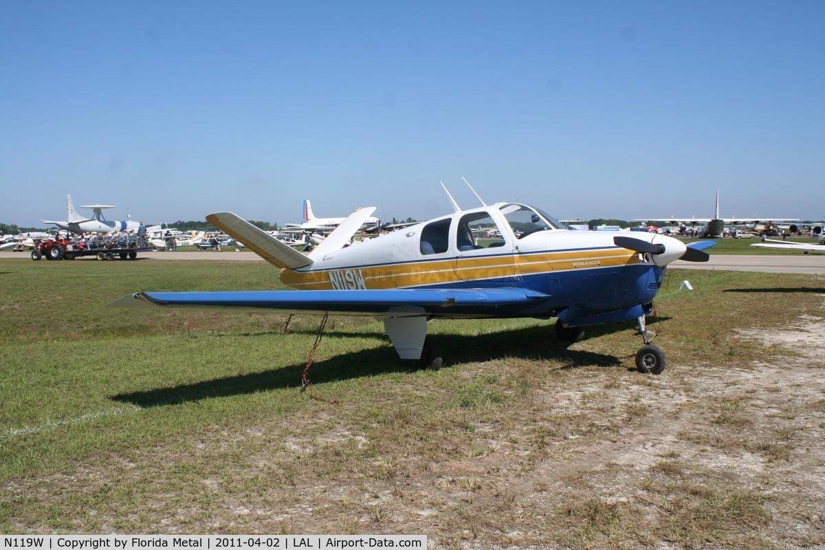 N119W, 1953 Beech D35 C/N D-3518, Beech D35