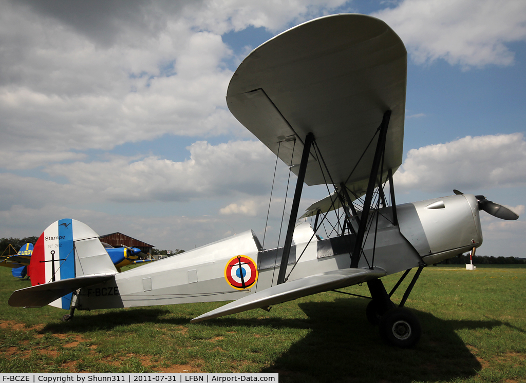 F-BCZE, Nord Stampe SV-4C C/N 262, Parked on the grass...