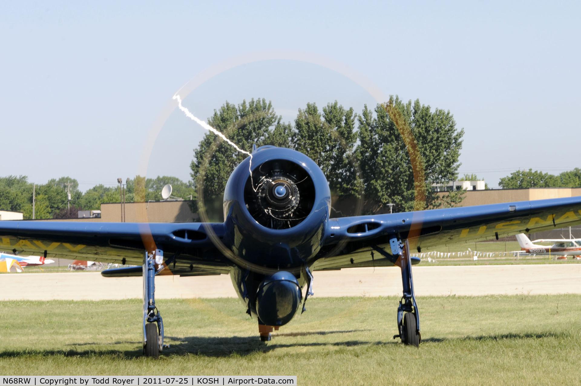 N68RW, 1947 Grumman F8F-2 (G58) Bearcat C/N D.1162, AIRVENTURE 2011