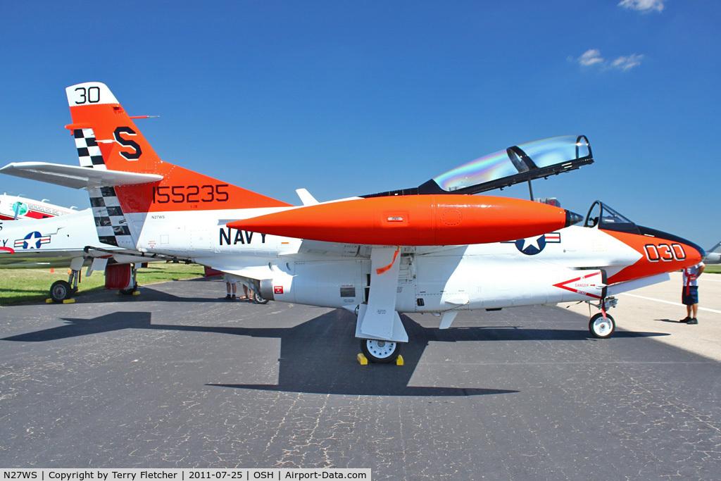N27WS, 2003 North American T-2B Buckeye C/N 1155235, 2003 Sanders Wiley C Jr SANDERS/NA T2B, c/n: 1155235