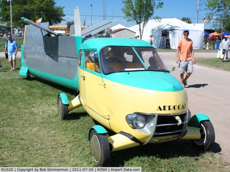 N102D, 1960 Aerocar I C/N 4, On display at Airventure 2011.