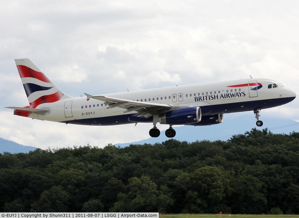 G-EUYJ, 2010 Airbus A320-232 C/N 4464, Landing rwy 23