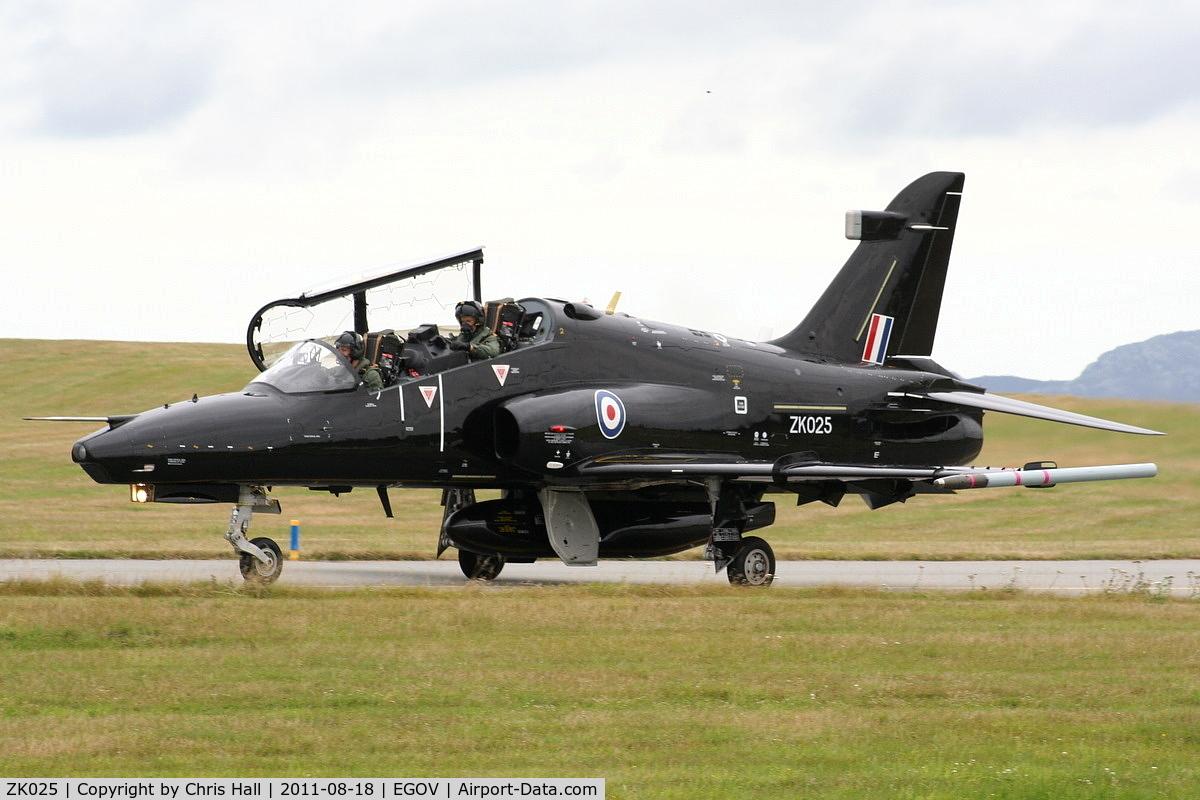 ZK025, 2009 British Aerospace Hawk T2 C/N RT016/1254, RAF 19(R)Sqn