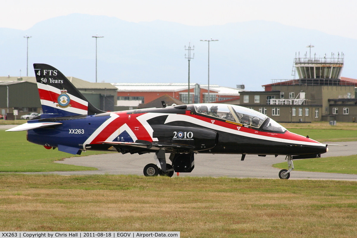 XX263, 1978 Hawker Siddeley Hawk T.1A C/N 099/312099, Still wearing the 2010 Display markings