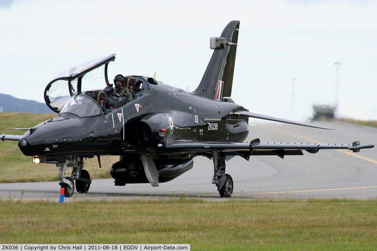 ZK036, 2010 British Aerospace Hawk T2 C/N RT027/1265, RAF 19(R) Sqn