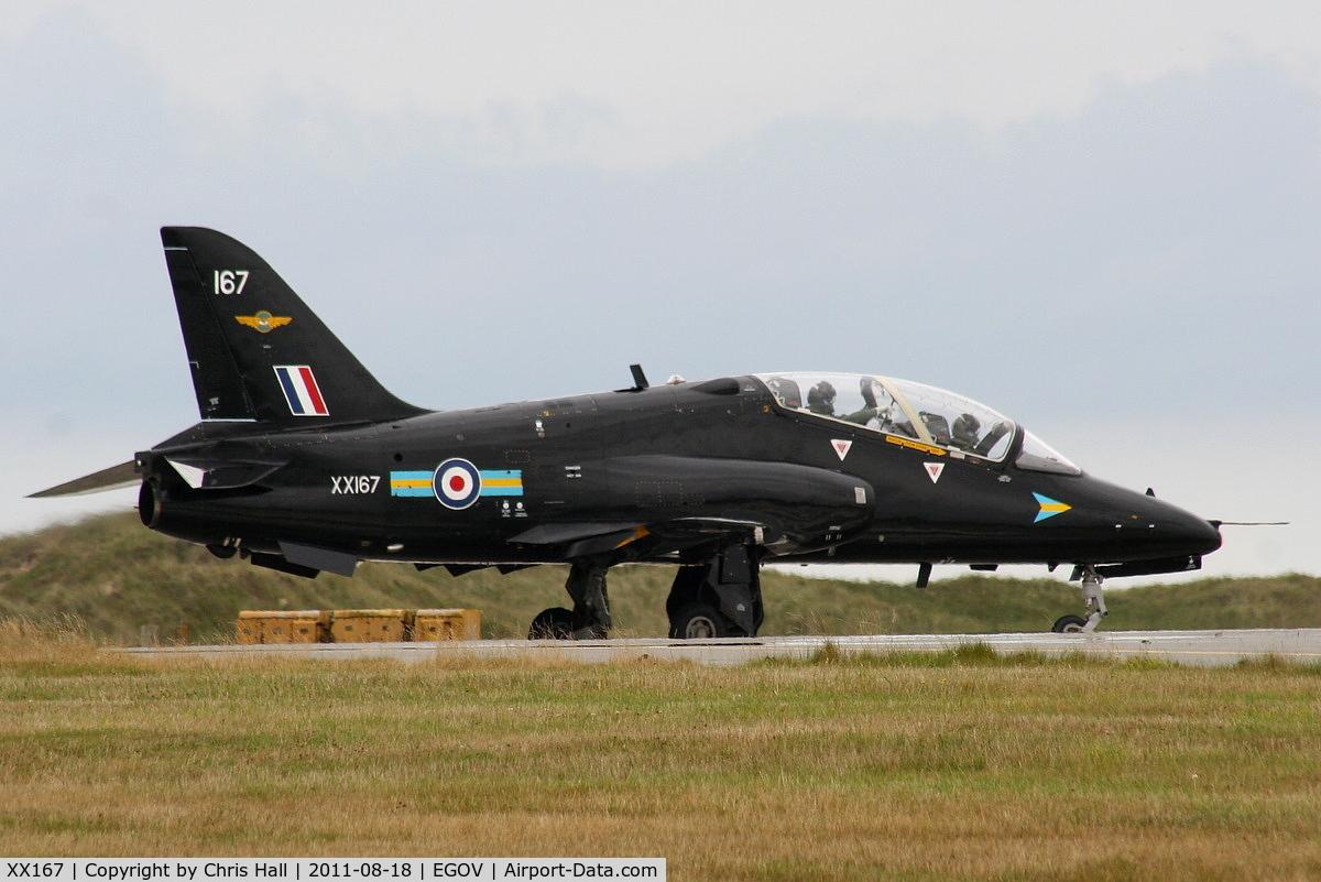 XX167, 1977 Hawker Siddeley Hawk T.1 C/N 014/312014, RAF 208(R) Sqdn