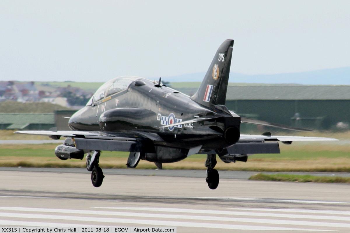 XX315, 1980 Hawker Siddeley Hawk T.1A C/N 156/312140, RAF 19(R)Sqn