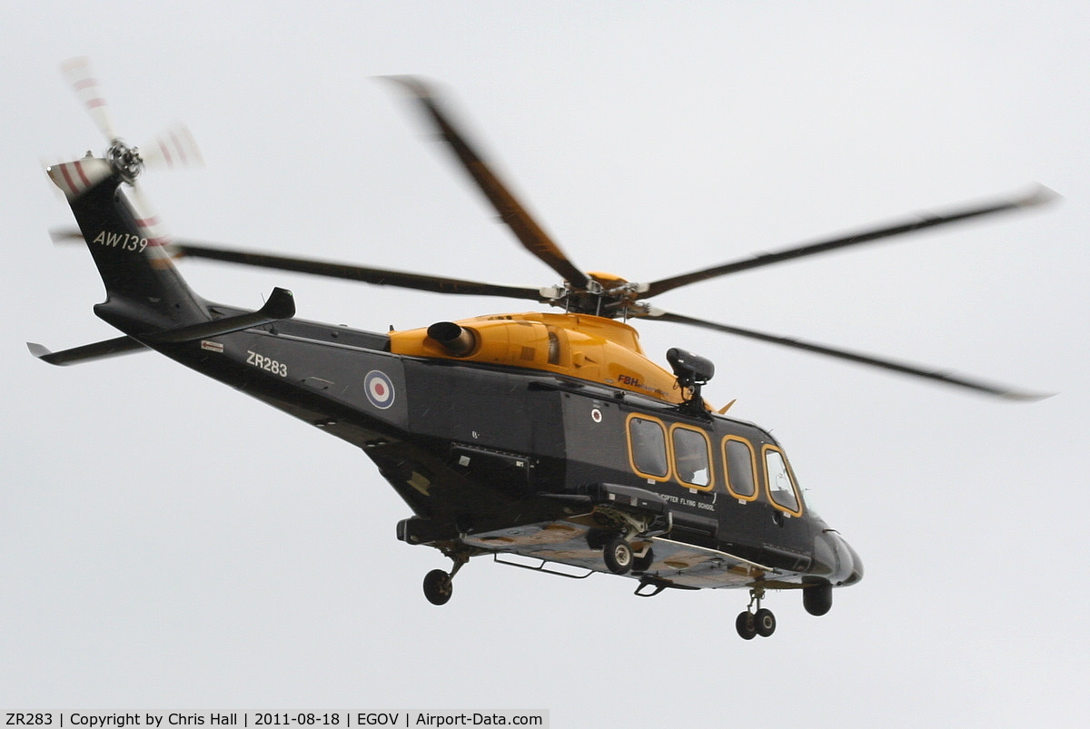 ZR283, 2010 AgustaWestland AW-139 C/N 31283, RAF Search and Rescue Training Unit (SARTU)