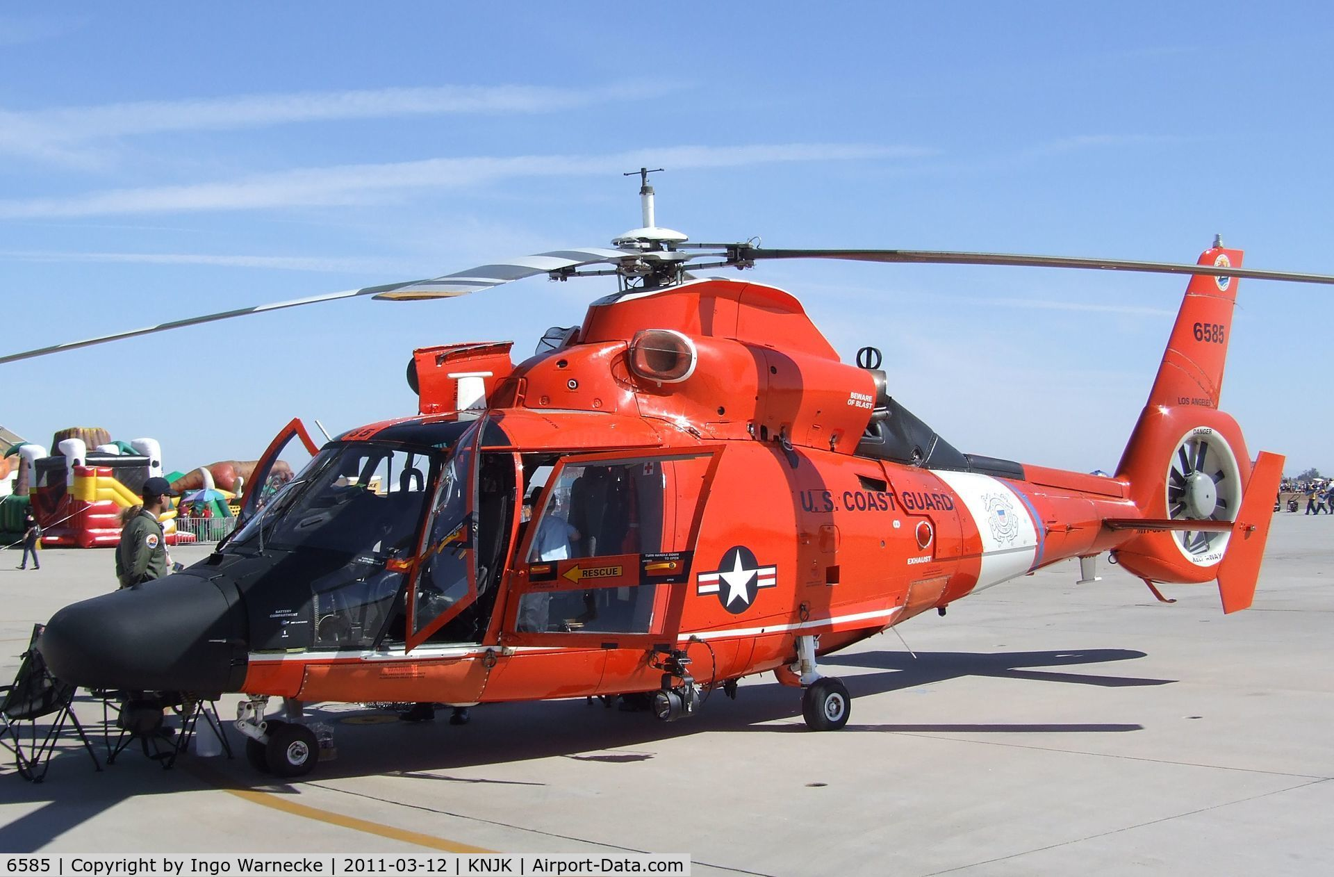 6585, 1988 Aérospatiale HH-65C Dauphin C/N 6284, Aerospatiale HH-65C Dolphin of the USCG at the 2011 airshow at El Centro NAS, CA