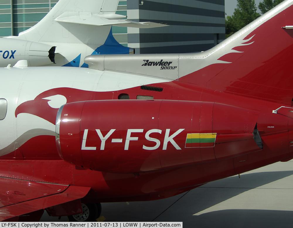 LY-FSK, 2008 Hawker Beechcraft 900XP C/N HA0060, Aurela Hawker 900