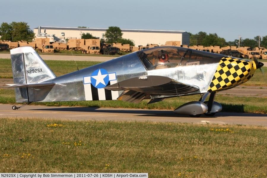 N292SX, Sonex Sonex C/N 1292, Departing Airventure 2011.